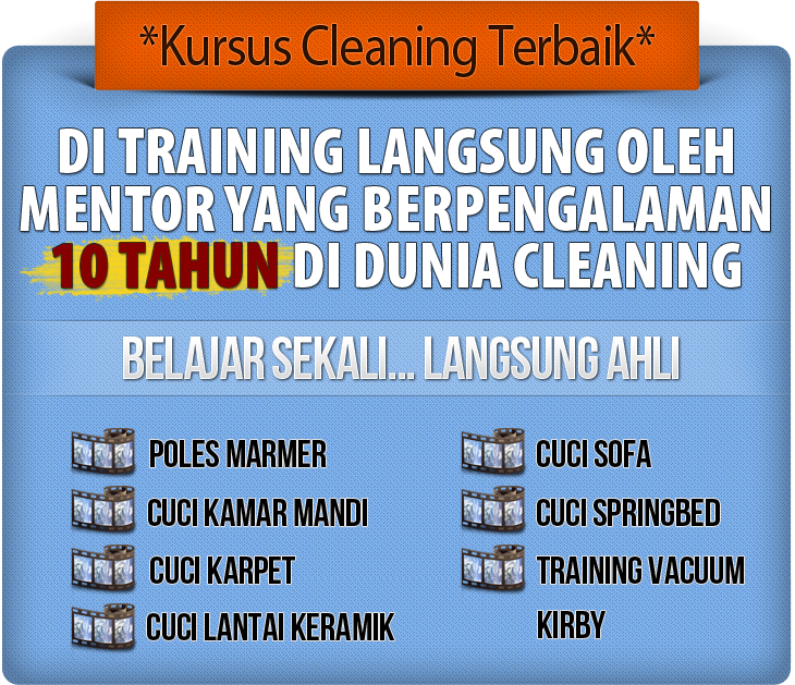 kursus cleaning marmer, karpet, sofa